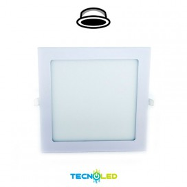 Downlight Led Empotrable Cuadrado 230V 18W Blanco