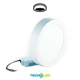 Plafon Downlight Led Superficie Redondo 230V 12W