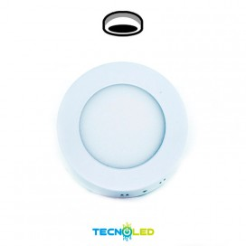 Plafon Downlight Led Superficie Redondo 230V 6W