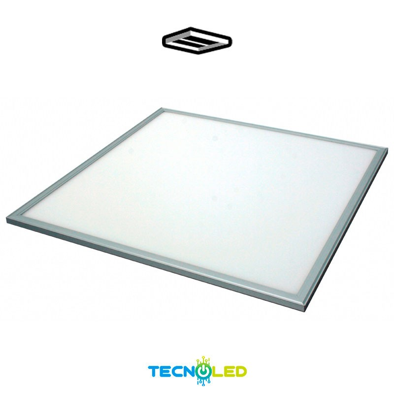 PANEL LED EMPOTRAR 60X60 48W SMD MARCO EN PLATA | PANELES LED