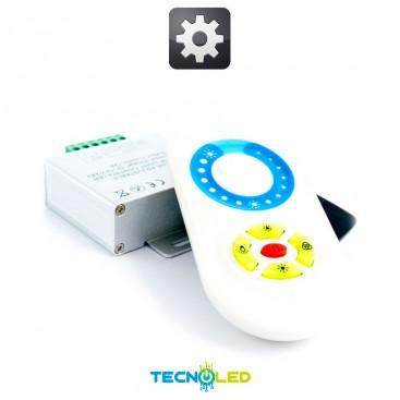 MANDO TACTIL VIA RADIO + CONTROLADOR RGB 18A 12V/24V
