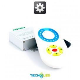 Mando Tactil Via Radio + Controlador Dimmer 12A 12V/24V