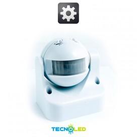 Sensor Movimiento Crepuscular Superficie 180º Exterior