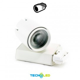 Foco Proyector Led De Carril 20W Varifocal Luz Neutra