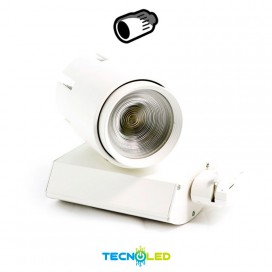 Foco Proyector Led De Carril 40W Varifocal Luz Neutra