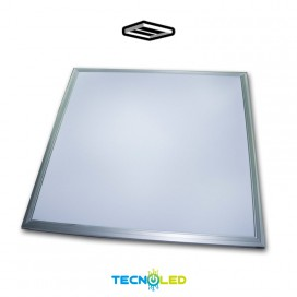 Panel Led Empotrable 60X60 50W Smd Marco En Plata Ecomax