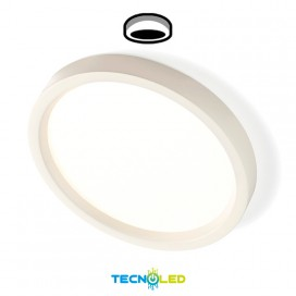 Plafon Downlight Led Superficie Redondo 230V 24W Blanco