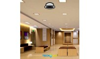 DOWNLIGHT LED EMPOTRABLE REDONDO 230V 18W GRIS