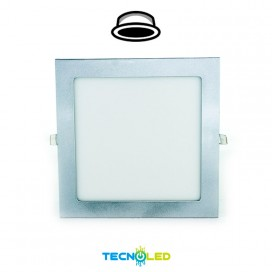DOWNLIGHT LED EMPOTRABLE CUADRADO 230V 18W GRIS